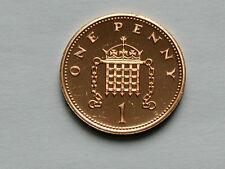 UK (Great Britain) 1985 1 PENNY (1p) Elizabeth II Coin From Proof Set - BU UNC