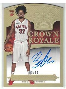 2014-15 LUCAS NOGUEIRA PANINI PREFERRED ROOKIE CROWN ROYALE AUTOGRAPH GOLD #5/10
