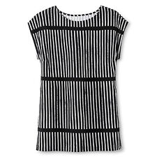 NEW! Marimekko Black & White Striped Small Soft Dress/Cover Up/Top