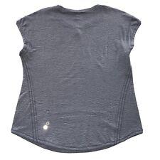 Women's Lululemon Reflective Logo Activewear Athliesure Shirt Gray Size 8