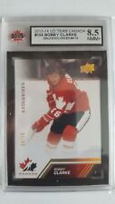 Bobby Clarke 2013-14 Team Canada Gold Exclusives Card #9/10 KSA Graded 8.5!!