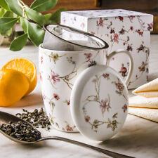 Kaffeebecher PORZELLAN Teebecher Kaffeetasse Teetasse WEIß Set Groß Becher NEU
