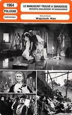 FICHE CINEMA : LE MANUSCRIT TROUVE A SARAGOSSE - Cybulski,Cembrzynska,Has 1964