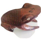 Wooden  Frog Figure Sculpture  Fetish  Fiji Vintage Hand Carved