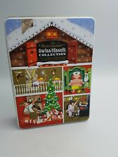MARKS SPENCER CHRISTMAS BISCUIT TIN SWISS CHALET SANNA ANNUKKA EMBOSSED DESIGN