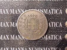 REGNO D'ITALIA VITTORIO EMANUELE II 1 LIRA STEMMA ARGENTO 1863 M COD. VITEMII-24