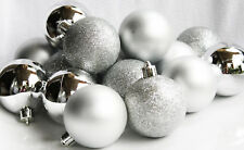 HOME ACCENTS HOLIDAY 17PC MATTE GLITTER GLOSSY CHRISTMAS SHATTER-RESISTANT BALL