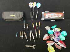 lot of steel darts tip shafts and flights