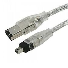FIREWIRE ILINK 6-4 PIN DV CABLE LEAD FOR CANON OPTURA 50 XI PI 400 MV890/I