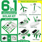 DIY 6 IN 1 Educational Learning Toy Solar Power Robot Kit Children Creative Toy