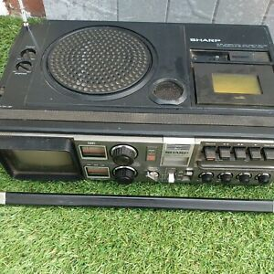 Sharp Radio Cassette TV Vintage Am FM Lw