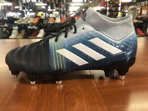 Adidas Kakari X Kevlar SG Rugby Cleats Blue BB7984 Men's Size 8