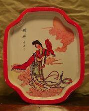 """Vintage * Geisha * Serving Tray Made by """"Action"""" - Hong Kong - Nice!"""