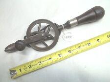 "GOODELL PRATT Antique Hand Drill, 5/32"" Capacity, (8) Bits in Handle, USA"
