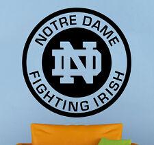 Notre Dame Fighting Irish Vinyl Decal Sticker Home Decor NCAA Football Emblem