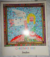 Vtg NEIMAN MARCUS catalog 1988 Christmas Book Rachel Hunter Fabienne Terwinghe
