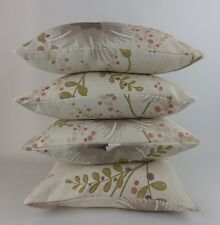 Harlequin Constance Floral Fabric Natural Linen Pink 4 Cushion Covers Neutral