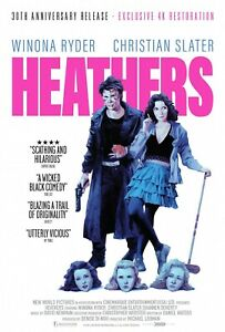 HEATHERS 1989 MOVIE POSTER FILM A4 A3 A2 PRINT ART CINEMA