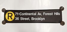New York City Subway R Train Sign 71st Forest Hills 36 Street R46 Rollsign NYCTA