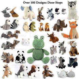 Doorstop Door Stop Stopper Filled Heavy Animal Owl Cat Dog Fox Novelty Elephant