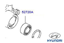 Genuine Hyundai Santa Fe Rear Wheel Bearing - 527201F000