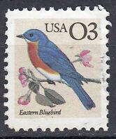 USA Briefmarke gestempelt 3c Eastern Bluebird Rothkelchen Vogel Tier / 1650