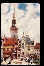 Tuck artist signed C.Flower St.Peters church Standesamt Munich Germany postcard