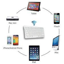 Ultra Slim Bluetooth Wireless Keyboard For iPad 2 4 Mini Air Galaxy Note Tab