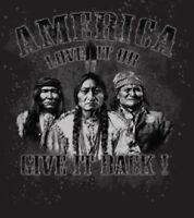 America Love It Or Give It Back Native American Gun Control TEE T-SHIRT