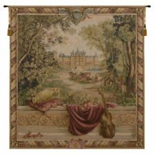 """Verdure au Chateau I French Tapestry Wall Hanging H 58"""" x W 58"""""""
