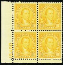 642, Mint 10¢ XF NH Plate Block Very Well Centered! * Stuart Katz