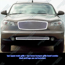 Fits 2006-2008 Infiniti FX Series Stainless Steel Mesh Grille Grill Combo Insert