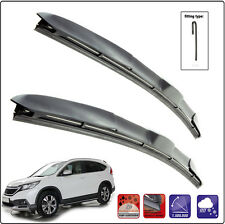 "HONDA CR-V IV 2012-ON Set of 2 windscreen wiper blades HYBRID HOOK 26""16""H"