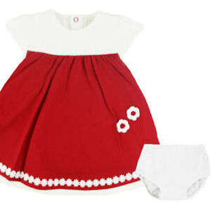 Emile Et Rose Girls Dress & Knickers - Red/ White (BNWT) ER8329-RE