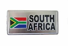 South Africa Country Flag-Silver Licensed Sticker Flag Plate.Size: 6 X 3 Inch