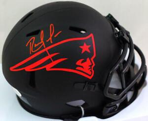 Randy Moss Autographed NE Patriots Eclipse Speed Mini Helmet- Beckett W *Red