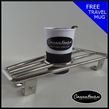 Vespa PX T5 LML floorboard rack CUP HOLDER Stainless steel CLASSIC RACKS