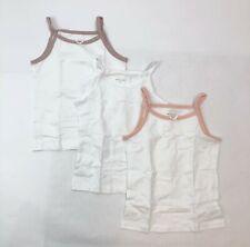 Petit Clair Girls White Size 7 Cotton Undershirts 3-Pack