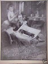 PUBLICITÉ 1922 DEDION BOUTON LA TORPÉDO 12 HP 4 CYLINDRES - DESSIN SIGNÉ LABOREY