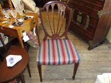 Antique Mahogany Sheraton Style Shield Back Chair