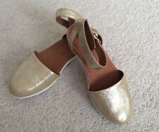 Ladies Fitflop Cova Metallic Gold Leather Sandals UK4.5 New With Box