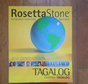 Rosetta Stone Filipino Tagalog Learning Level 1 - Includes Grammar Book