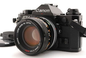 [Near Mint] CANON AE-1 Program Black + FD 50mm f/1.4 S.s.C from JAPAN 1060