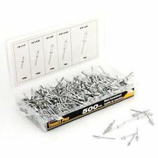 Aluminum Rivet Assortment 500pc Multiple Sizes Blind Pop Head Rivets Fasteners