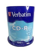 Verbatim CD-R Compact Disk 100 Pack 700 MB 52X 80 Minute