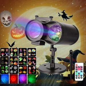 Halloween Christmas Laser RGB LED Projector Light Moving Outdoor Garden Lamp UK