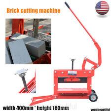 Manual Brick Cutting Machine Block Splitter Garden Landscaping Paving Tool Usa