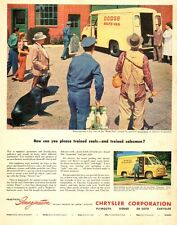 1950 Classic Truck Ad DODGE Route Van Delivery panel truck from Chrysler 033017