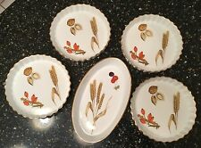 ROYAL WORCESTER - 5 PC SET OF WILD HARVEST SERVING / BAKING DISHES WHEAT, NUTS
