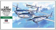 Hasegawa 1/48 P-38j Rayo Maqueta de Plástico en Kit F09101 Hsg09101